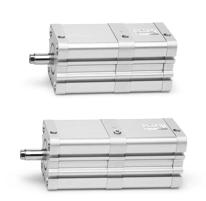 Компактные магнитные цилиндры. Серия 32 ISO 21287.Тандем и многопозиционный цилиндр.