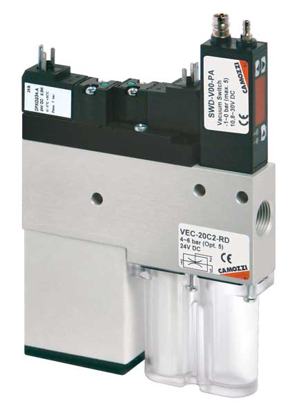 Компактные эжекторы Серии VEC с функцией экономии сжатого воздуха