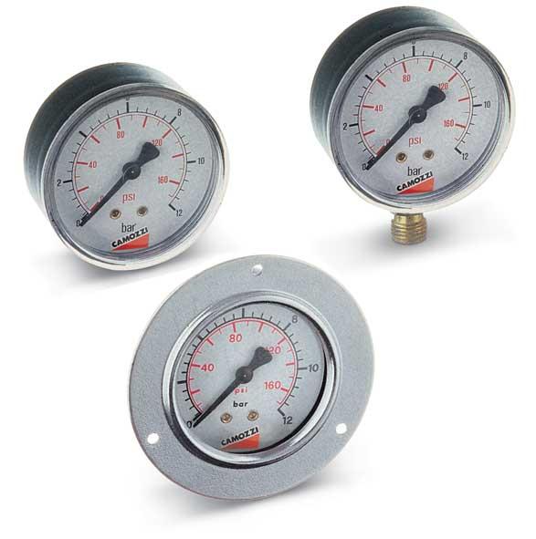 Манометры для регуляторов давления и фильтров-регуляторов. Серия C, MC, N, M