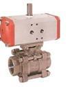 Шаровой кран из нержавеющей стали с пневматическим приводом KUP-ZA, -VH, -PD