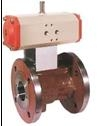 Шаровой кран из серого чугуна с пневматическим приводом KUP-VO