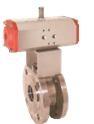 Шаровой кран из нержавеющей стали с фланцевым присоединением и пневматическим приводом KUP-VK