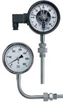 Стержневые термометры с соотвествием DIN 16205 Азотозаполненные • Опция: Контакты TNS-R