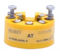 Преобразователь температуры с головкой типа AT для работы с термометрами сопротивления типа Pt100 и 100Н