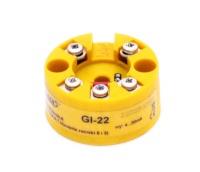 Интеллектуальный преобразователь температуры GI-22 для работы с термометрами сопротивления типа Pt100 и Ni100, а также термоэлектрическими датчиками типа: K, J, S, B, N, T